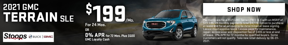 2021 GMC Terrain SLE - May