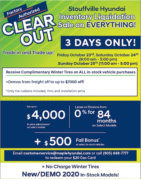 Factory Authorized Clearout Event