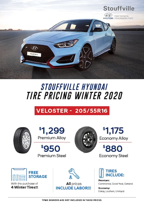 2020 Veloster Winter Tire Pricing