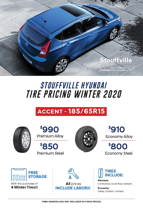2020 Accent Winter Tire Pricing