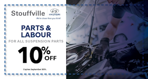 10% off Parts and Labour for all Suspension Parts