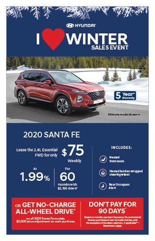 I Love Winter Event 2020 Hyundai Santa Fe