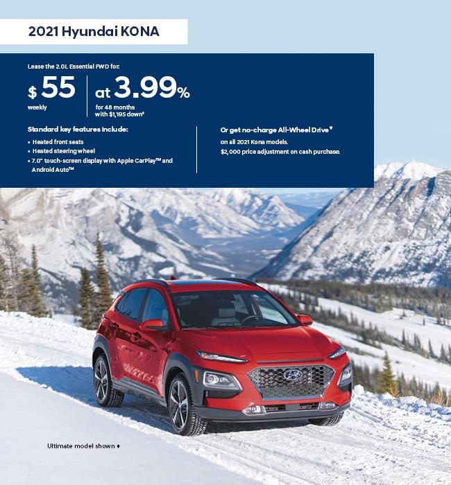 2021 Hyundai KONA I Love Winter Promotion