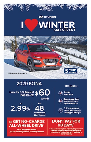 I Love Winter Event 2020 Hyundai KONA