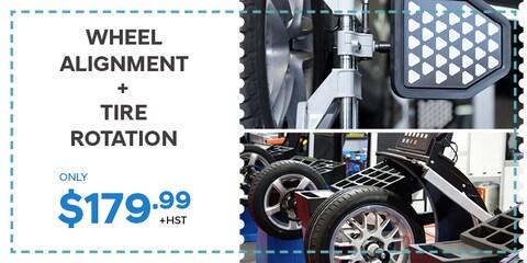 Wheel Alignment plus tire rotation