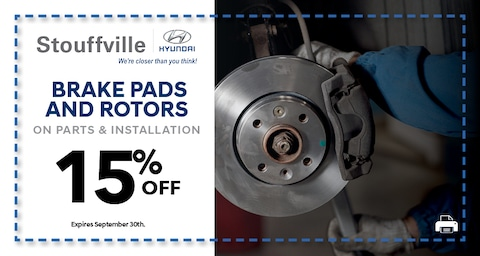 15% Brake Pads and Rotors on Parts and Installation