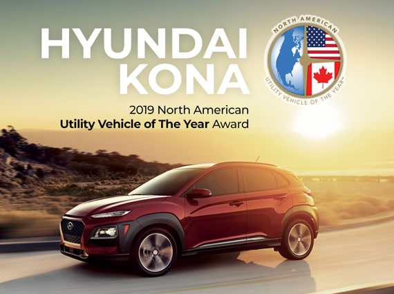 New Hyundai KONA 2019 North American Utility Vehicle of the Year Award - Stouffville Hyundai