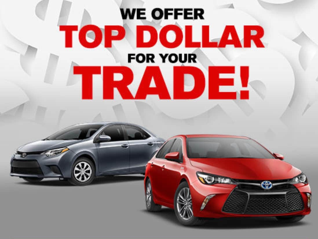 value your trade get top dollar for your vehicle trade in at stouffville toyota. Black Bedroom Furniture Sets. Home Design Ideas