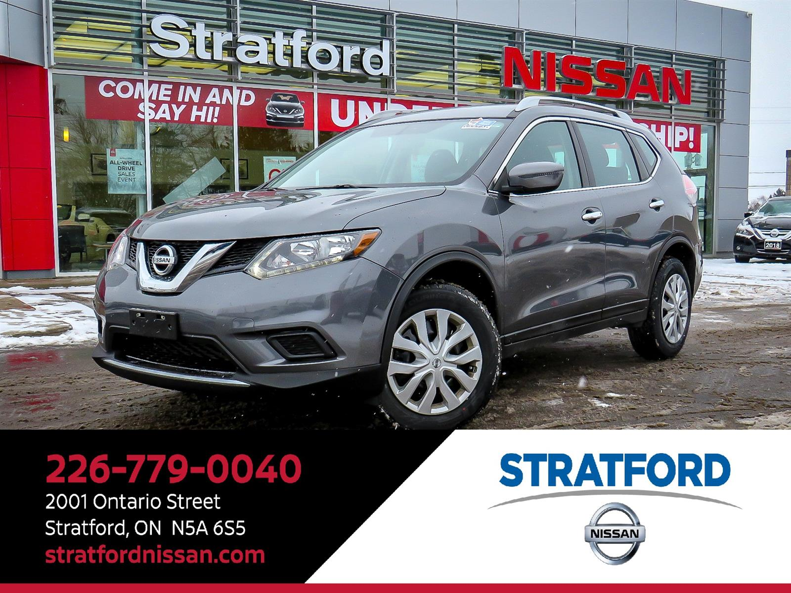 2016 Nissan Rogue S|AWD|Backup Cam|Bluetooth| Wagon