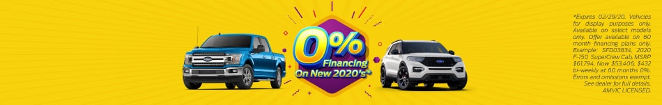 0% Financing On New 2020's