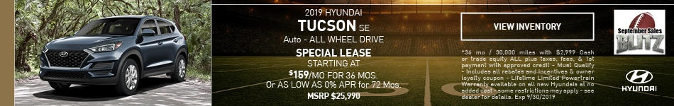 2019 Hyundai Tucson SE Auto - ALL WHEEL DRIVE