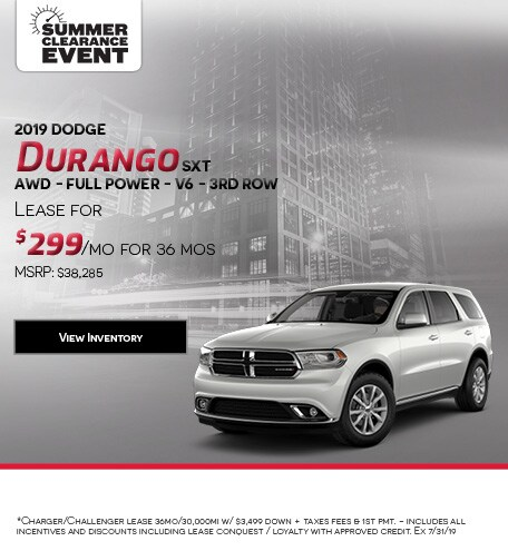 2019 Dodge Durango SXT AWD - Full Power - V6 - 3rd Row