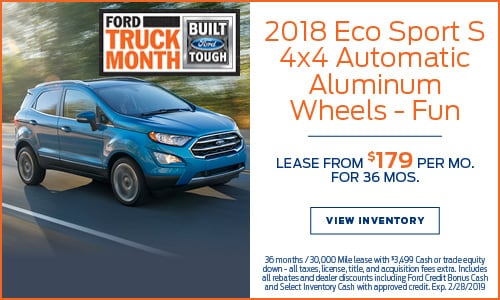 New 2018 Ford EcoSport Lease