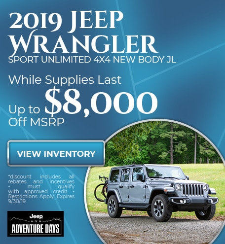 2019 Jeep Wrangler  Sport Unlimited 4x4 New Body JL