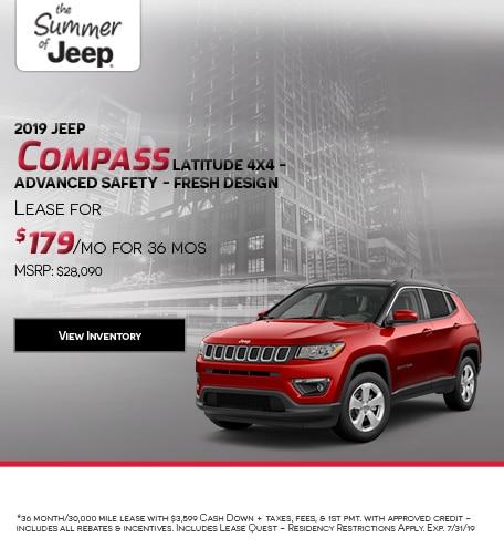 2019 Jeep Compass Latitude 4x4 - Advanced Safety - Fresh Design