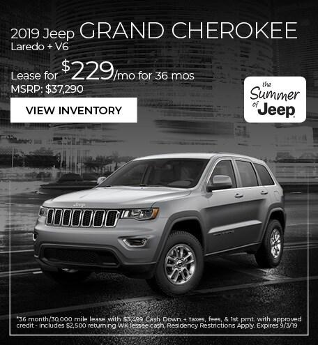 2019 Jeep Grand Cherokee Laredo + V6