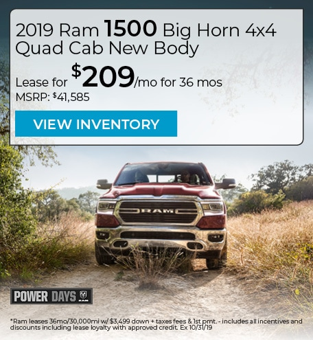 2019 Ram 1500 Big Horn 4x4 Quad Cab New Body