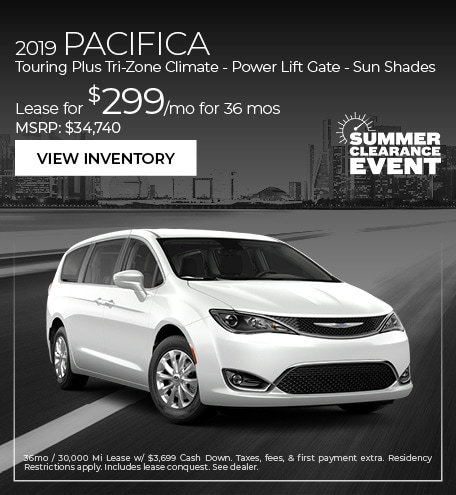 2019 Pacifica Touring Plus Tri-Zone Climate - Power Lift Gate - Sun Shades