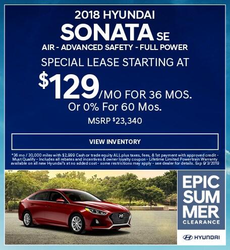 2018 Hyundai Sonata SE  Air - Advanced Safety - Full Power