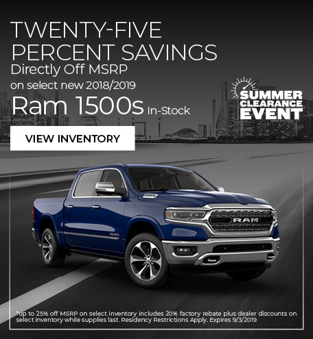 Twenty-Five Percent Savings Directly Off MSRP