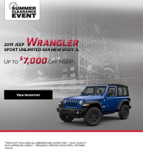 2019 Jeep Wrangler Sport Unlimited 4x4 New Body JL