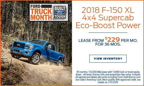 New 2018 Ford F-150 XL Lease