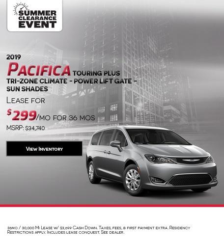 2019 Pacifica Touring Plus Tri-Zone Climate - Power Lift Gate - Sun Shades