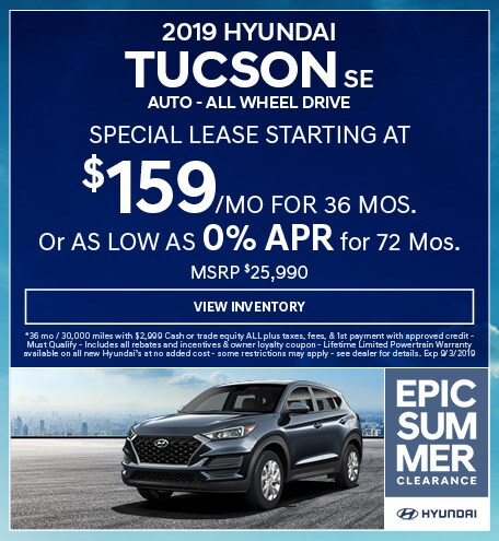 2019 Hyundai Tucson SE  Auto - ALL WHEEL DRIVE