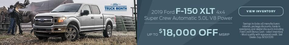 2019 Ford F-150 XLT 4x4 Super Crew Automatic 5.0L V8 Power