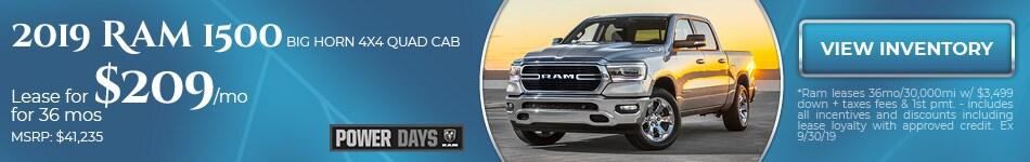 2019 Ram 1500 Big Horn 4x4 Quad Cab