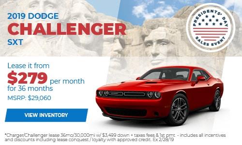 New 2019 Dodge Challenger SXT Lease