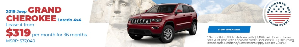 New 2019 Jeep Grand Cherokee Laredo Lease