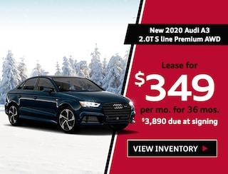 New 2020 Audi A3 2.0T S line Premium AWD