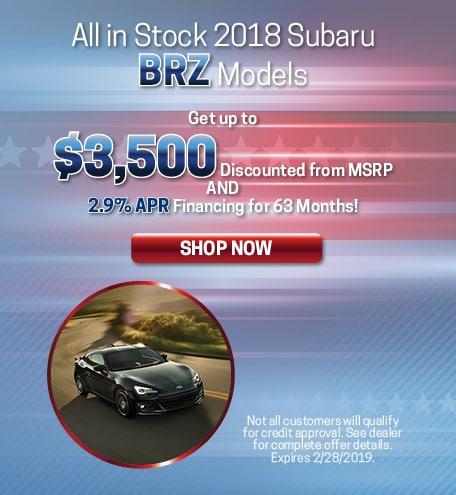 2018 BRZ MSRP Discount
