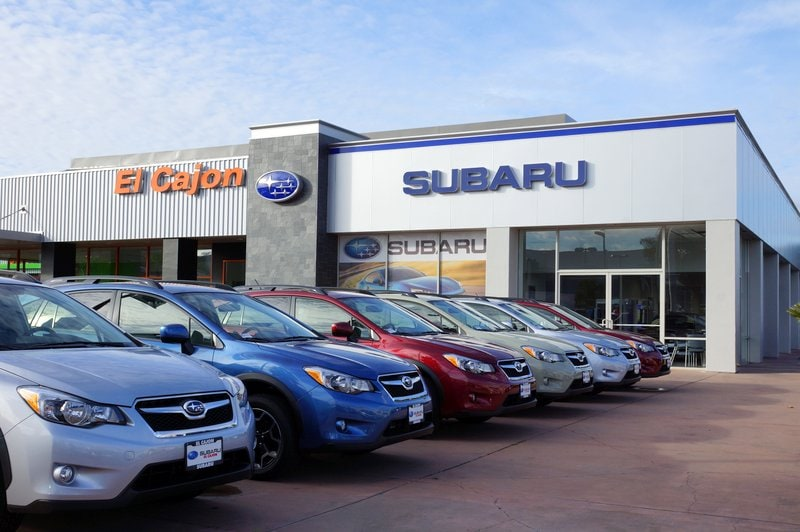 San Diego area Subaru dealership image with cars