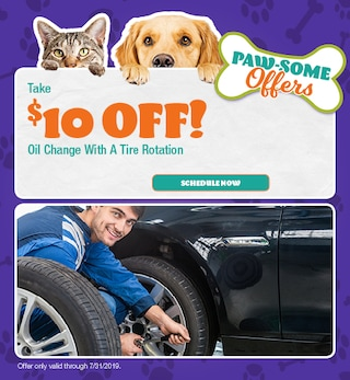 $10 Off Oil Change with a Tire Rotation