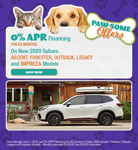 0% APR Financing On Select New Subaru Models