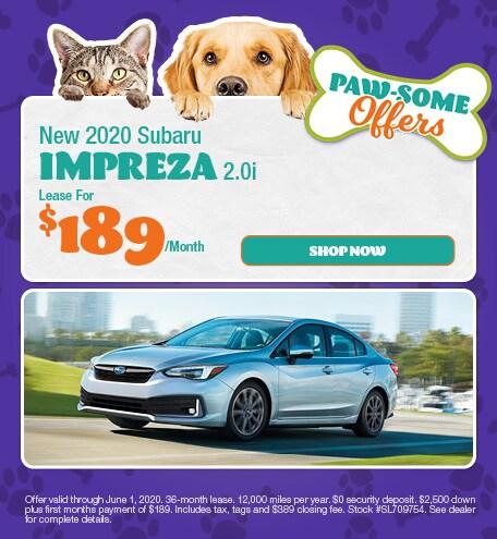 May - 2020 Subaru Impreza