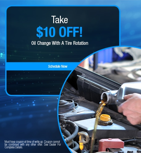 $10 OFF Oil Change W/ Tire Rotation