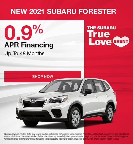 New 2021 Subaru Forester - February Special