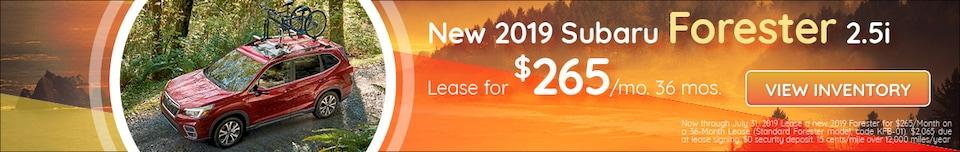 July - New 2019 Subaru Forester 2.5i