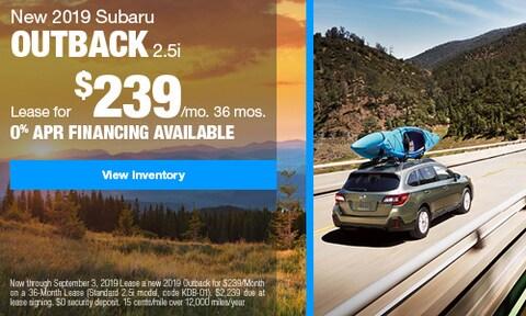 2019 Subaru Outback Lease - August