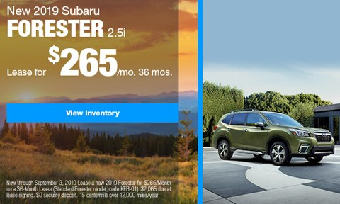 2019 Subaru Forester Lease - August