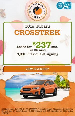 November 2019 Subaru Crosstrek Lease Offer