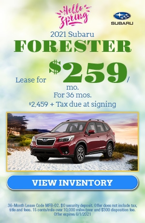 May 2021 Subaru Forester Offer
