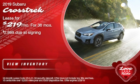 '19 Crosstrek Lease offer