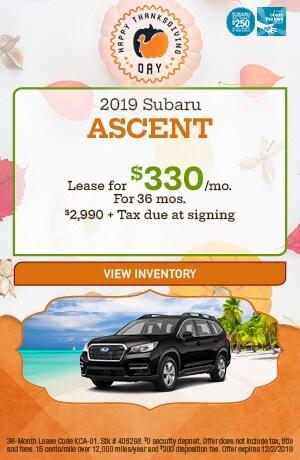 November 2019 Subaru Ascent Lease Offer