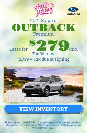 May 2021 Subaru Outback Premium Offer