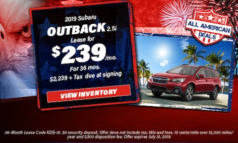 July 2019 Outback Lease Offer