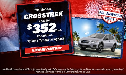 July 2019 Crosstrek Lease Offer